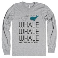 Whale what have we got here t-shirt-Unisex Heather Grey T-Shirt