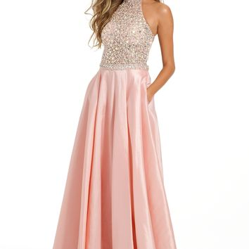 Taffeta Ballgown With Beaded Halter from Camille La Vie and Group USA