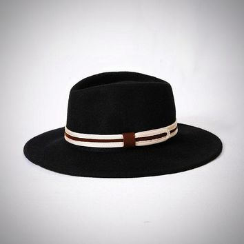 Wide Brim Fedora Hats for Men