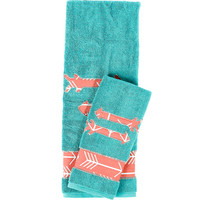 Fancy Fringe Turquoise with Corral Arrows Towel Set