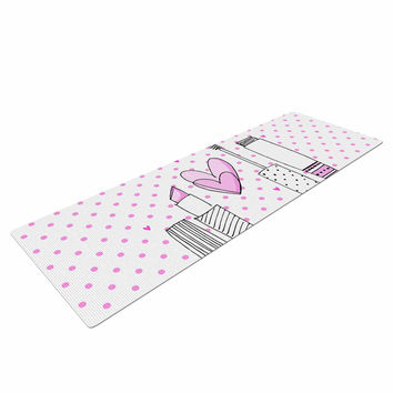 "MaJoBV ""Girls Luv"" Pink Makeup Yoga Mat"