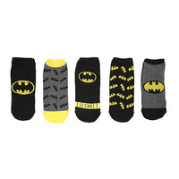 DC Comics Batman Logos No-Show Socks 5 Pair