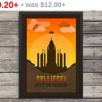 Gallifrey Poster | Dr Who Minimalist Poster | Typography | Inspirational