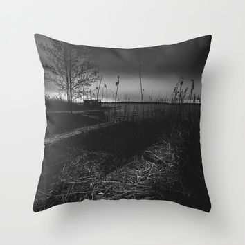 On the wrong side of the lake 11 Throw Pillow by HappyMelvin