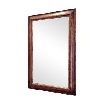 Pre-owned Antique Distressed Wood Mirror