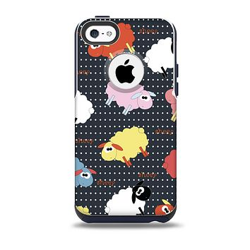 The Colorful Sheep Polka Dot Pattern Skin for the iPhone 5c OtterBox Commuter Case