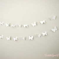 Butterfly Garland strand paper bunting Butterfly Decor Bunting with Butterflies