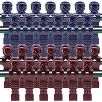 26 Red and Blue Tournament Style Foosball Men