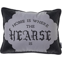 Canvas Home is Where the Hearse is Pillow by Sourpuss