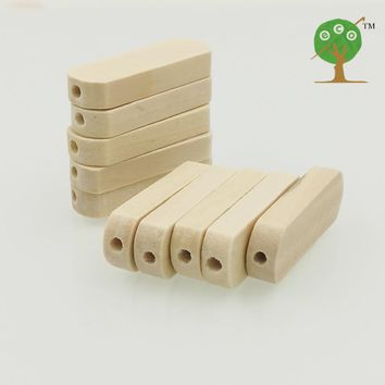 200 x 30mm natural wood beads long jar shaped bead wood bar side hole baby teething toy DIY jewelry finding pattern EA20