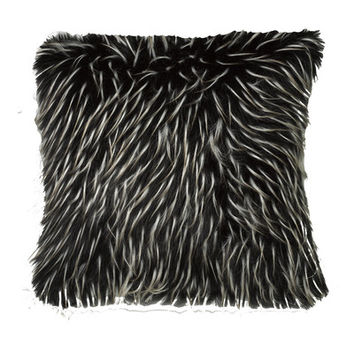 Mercury Row Faux Fur Two Tone Feather Filled Throw Pillow & Reviews | Wayfair