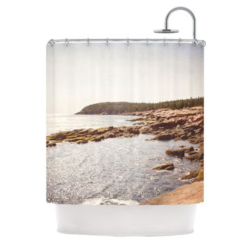 "Jillian Audrey ""The Maine Coast"" Coastal Shower Curtain"