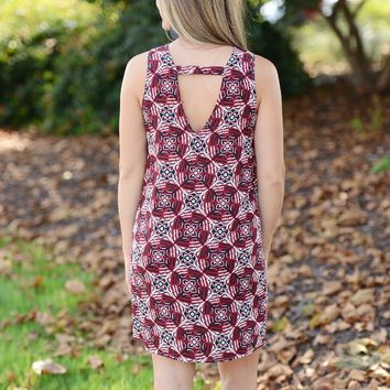 Sarah V-Back Shift Dress