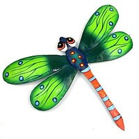 Green Metal Dragonfly - 11 Inches - Haiti - Croix des Bouquets