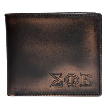 SIGMA PHI EPSILON Bifold Wallet - Mens Wallets - Leather Wallets - Mens Leather Wallets - Sigma Phi Epsilon - Greek
