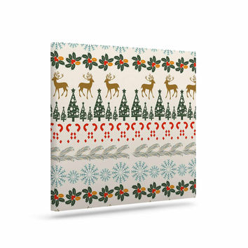 "Famenxt ""Christmas Vibes"" Holiday Pattern Canvas Art"