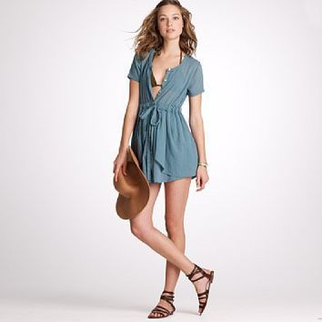 Women's Women_Shop_By_Category - beach cover-ups - Stranded beach dress - J.Crew