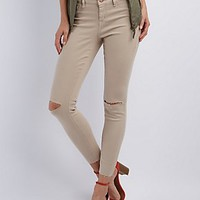 "REFUGE ""SKIN TIGHT LEGGING"" SLIT KNEE JEANS"