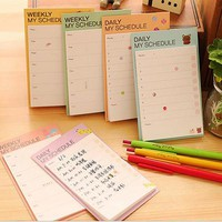 Kwaii Desk Weekly Daily Sticky Planner Cartoon Sticky Notes Stickers Diary Stamps Post It Paper Korean Stationery To Do List