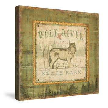 Outdoor Life IV (Wolf River) Canvas Wall Art
