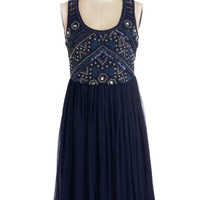 Embellishment to Be Dress in Navy | Mod Retro Vintage Dresses | ModCloth.com