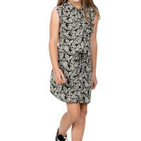 PAISLEY PATTERN PRINT SLEEVELESS DRESS GIRLS