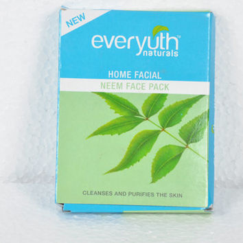 Everyuth Naturals Face Pack-Mask Moisturizes Remove Dead cells 25 gms, available in 4 range , haldi chandan , papaya, rose, neem, from India