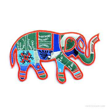 Animals Patchwork Elephant Patch on Sale for $5.50 at The Hippie Shop