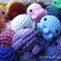 Discount - 3 Random Octopus - Three Amigurumi Cephalopod Dolls