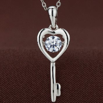 Key to the Heart Swarovski Crystal Necklace
