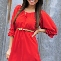 Ready For A Rodeo Dress: Red | Hope's