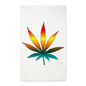 Rainbow Marijuana Leaf 3'x5' Area Rug