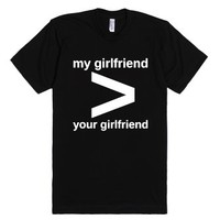 My girlfriend-Unisex Black T-Shirt