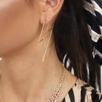 Never Left Gold Lightning Bolt Earrings