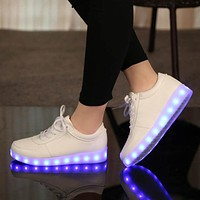 Eur27-42 // Luminous Sneakers glowing USB illuminated krasovki kids shoes children do with led light up sneakers for girls&boys