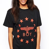Black Boy + Star Print T-Shirt