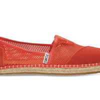 TOMS Fiesta Red Mesh Women's Classics Red