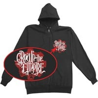 Crown The Empire Men's  Cog Zippered Hooded Sweatshirt Black