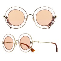 OCCHIALI GUCCI GG0113S 004 SUNGLASSES NEW AND AUTHENTIC 100% COLLECTION 2018