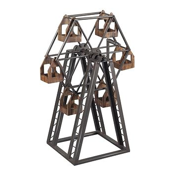 Industrial Ferris Wheel Candle Holder