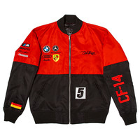 Club Foreign Two-Tone German Race Jacket Red Black