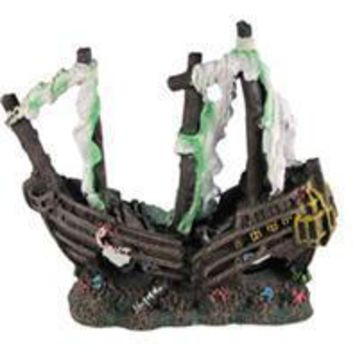 Poppy Pet - Sunken Pirate Ship With Torn Sails