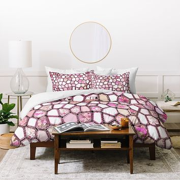 Ingrid Padilla Pink Cells Duvet Cover