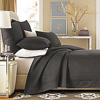 Real Simple® Dune Coverlet in Charcoal
