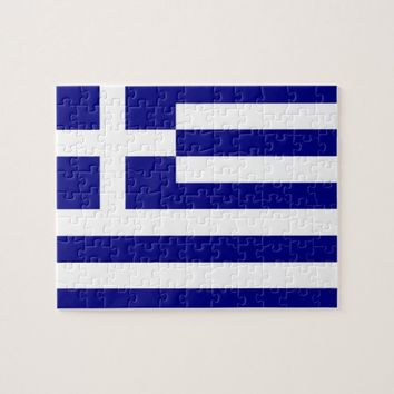 Puzzle with Flag of Greece