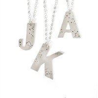 Handmade Large Initial Constellation Necklace, Personalized, Letter, Zodiac, Sterling Silver, Monogram, Stars, Birthday, Holiday, Gift