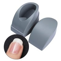 1 Pc Plastic French Dip Nail Container Smile Line Maker Nail Tips Mold Guides Manicure Nail Art Tool