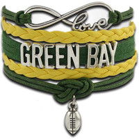 Infinity Collection Love NFL Green Bay Packers Bracelet