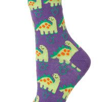 Purple Big Dinosaur Socks - Tights & Socks - Clothing - Topshop