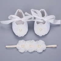 2016 new Party baptism princess shoes baby girl 3 pcs flower headbands set,baby photo props infant shoes,baby girl boots #JH051